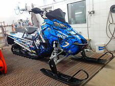 POLARIS AXYS WRAP KIT SKS decal GRAPHIC 800 600 PRO RMK ASSAULT 144 155 163 BLUE