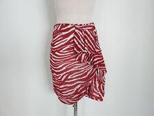 ISABEL MARANT  red aand white zebra print skirt size 38 US 4-6