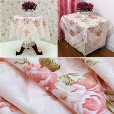 Table Cover  Lace Table Cloths Cabinet Pink Flower Decoration Rectangular