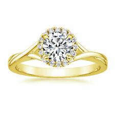 14k Yellow Gold 0.60ct Round Diamond Solitaire Ring
