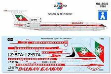Revaro Decal Tu-154A Balkan Veb Plasticart model kit 1/100