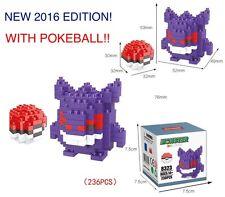 NEW GENGAR POKEMON BUILDING BLOCKS TOYS LEGO MICRO NANOBLOCK MANGA ANIME PUZZLE