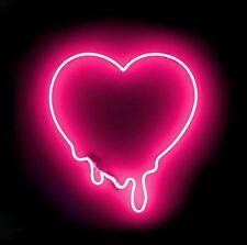 "New Make My Heart MeltPink Artwork Handmade Acrylic Neon Sign 12"""