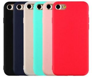 For iPhone XS XR 7 8Plus 6S Case Silicone Ultra Slim Soft Gel Cover Protector