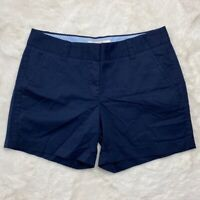 J. Crew Factory Womens Shorts Size 2 Cotton Broken-In Chino Blue