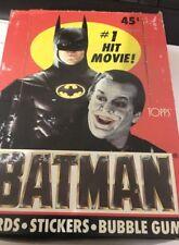 Topps Batman Movie Cards, Stickers, & Bubble Gum Series #1 Vintage 1989