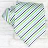 Cravatta seta millerighe bianco Made in Italy business / matrimoni sposo