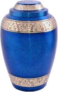 Blue Alloy Band Adult Cremation Urn