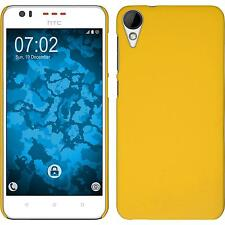 Hardcase HTC Desire 825 rubberized yellow Cover + protective foils