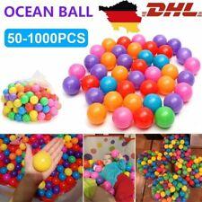 50-1000 Bunte Bälle für Bällebad  Babybälle Plastikbälle Baby Spielbälle 5,5cm