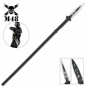 """44"""" M48 Survival Hunting Combat Battle Spear Fixed Blade Knife Tactical + Sheath"""