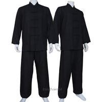 Soft Cotton Blends Tai chi Suit Martial arts Kung fu Wing Chun Uniform 4 Colors