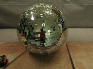 """16"""" wide Glass Mirror Disco Ball Ornament Wedding party  Events Decorations"""