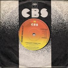 """Herbie Hancock I Thought It Was You UK 45 7"""" single +No Means Yes"""