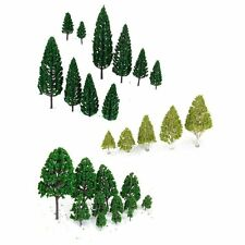 27 pcs Scenery Layout Landscape Train Model Trees 3-16cm 3-Type N7N7