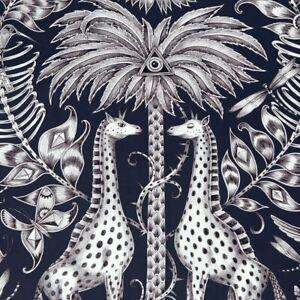 Kruger wallpaper by Designer Emma J Shipley Animalia | Navy