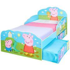 PEPPA PIG TODDLER BED WITH STORAGE KIDS BOYS JUNIOR BEDROOM
