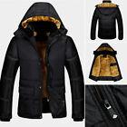 Homme Chaude PARKA CAPUCHE HIVER POLAIRE GRANDE Vêtement d'extérieur manteau