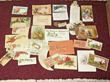 Victorian Trade Card Calling Card Lot w/some other ephemera Business Cards