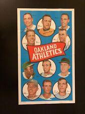 Vintage 1969 Topps Oakland A's Baseball Poster - Reggie Jackson Rookie Year