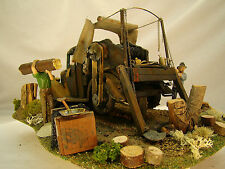 Historic Truck Wench Diorama - custom weathered after historic picture - G scale