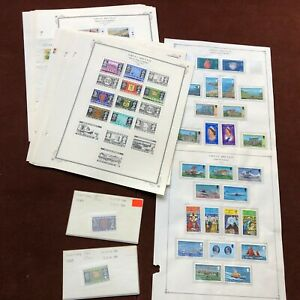 GUERNSEY 1969-81 CV $100+ on SCOTT SPECIALTY Album Pages UK Stamp Collection