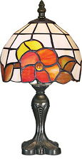 TIFFANY STYLE UNIQUE STAINED GLASS DESK TABLE LAMP - 7'' WIDE
