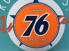 UNION 76 top QUALITY porcelain coated 18 GAUGE steel SIGN