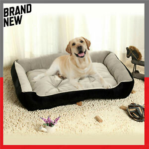 Pet Deluxe Soft Washable Dog Pet Warm Basket Bed Cushion with Fleece Lining