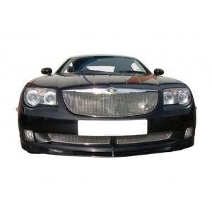 Zunsport Polished silver mesh front grille set Chrysler Crossfire 04-08