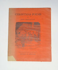 CHRISTMAS POEMS by John Drinkwater & Illustrated by Ernest Shepard / Poetry 1931