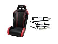 Simpson Vortex Black/Red UTV Racing Seat Driver Side Mounting Kit Yamaha YXZ1000