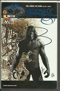 Darkness #1 (blue foil) Top Cow- Paul Jenkins Signed #107/499 Dynamic Forces COA