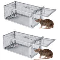 1-10PCS 27*14*11 Rat Trap Cage Small Live Animal Pest Rodent Control Rat Catcher