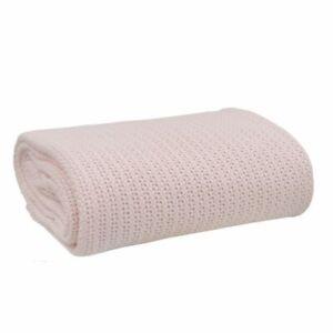 Living Textiles Organic Cell Blanket Bassinet/Cradle Pink