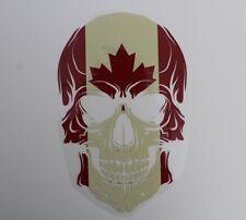 Aufbügler Transferfolie Totenkopf Kanada ca.9 x 5,5 cm Schädel Bügelbild