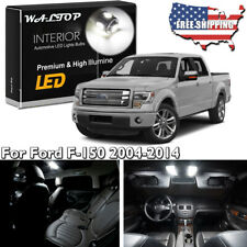 18pc White LED Interior Lights Package Kit For Ford F-150 F-150 2004 - 2013 2014