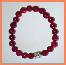 Ruby Gemstone Buddha Confidence Energy Healing Protection Spiritual Bracelet