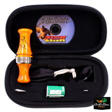 ZINK CALLS XR-2 PARALYZER  DOUBLE REED DUCK CALL ORANGE MARBLEADE ACRYLIC