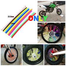Balck motorcycle PVC Wheel Spoke Rims Skins Guard Protector For Suzuki DIRT Bike