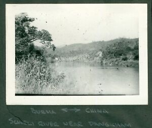 1940s WWII CBI Army ENGR Ledo Road Photo Burma China Scweli River bridge wrecked