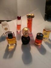 Vintage Collage/lot, mini perfume bottles 7 ea. Ladies  Fragrances.