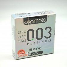 OKAMOTO 003 PLATINUM CONDOM 3S,half the thickness of normal latex condoms