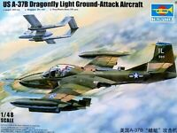 Trumpeter 1:48 A-37B Dragonfly U.S. Ground-Attack Aircraft Model Kit