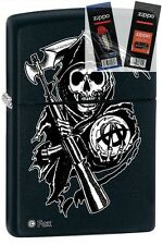 Zippo 28504 sons of anarchy Lighter with *FLINT & WICK GIFT SET*