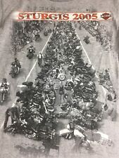 Harley Davidson Vintage 2005 - Sturgis Main Street - Buffalo Chip T Shirt Sz M