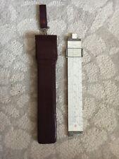 Vintage Fredrick Post 1460 Versalog Hemmi Bamboo Slide-Rule w/Leather Case Japan