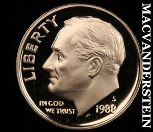1988-S Roosevelt Dime-Gem Proof No Reserve #W5309