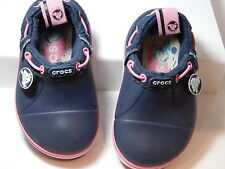 CROCS Crocband Gust Kids Navy Blue / Pink Duet Axel Kids Shoes size 6