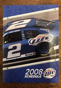 Kurt Busch 2008 NASCAR Pocket Schedule, Miller Lite